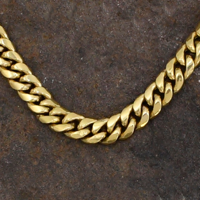 "10k Yellow Gold Estate Curb Link Chain/Necklace 22"" Long"