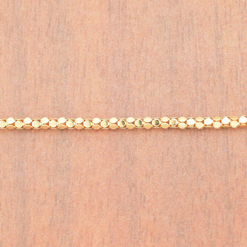 "14k YG 18 1/4"" Hollow Box Link Chain/Necklace"