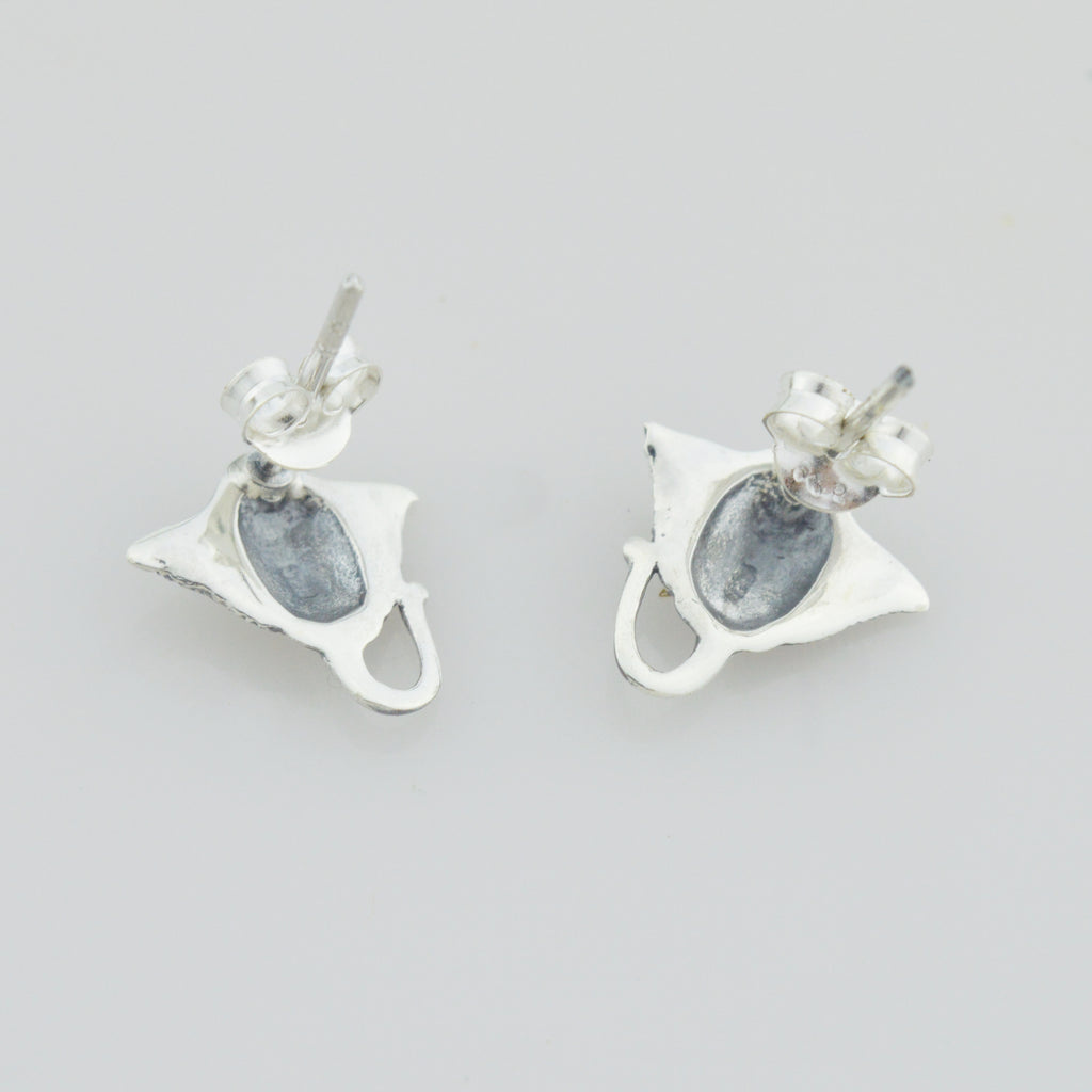 NEW Sterling Silver 925 Stingray/Manta Ray Stud Earrings