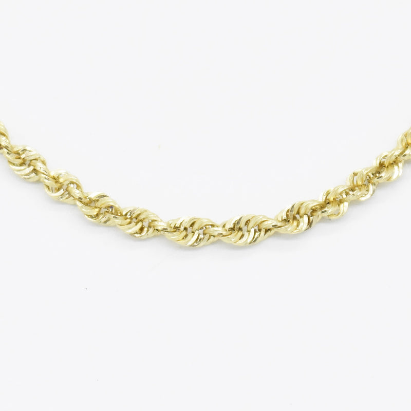 "10k Yellow Gold Estate 17"" Rope Link Chain/Necklace"