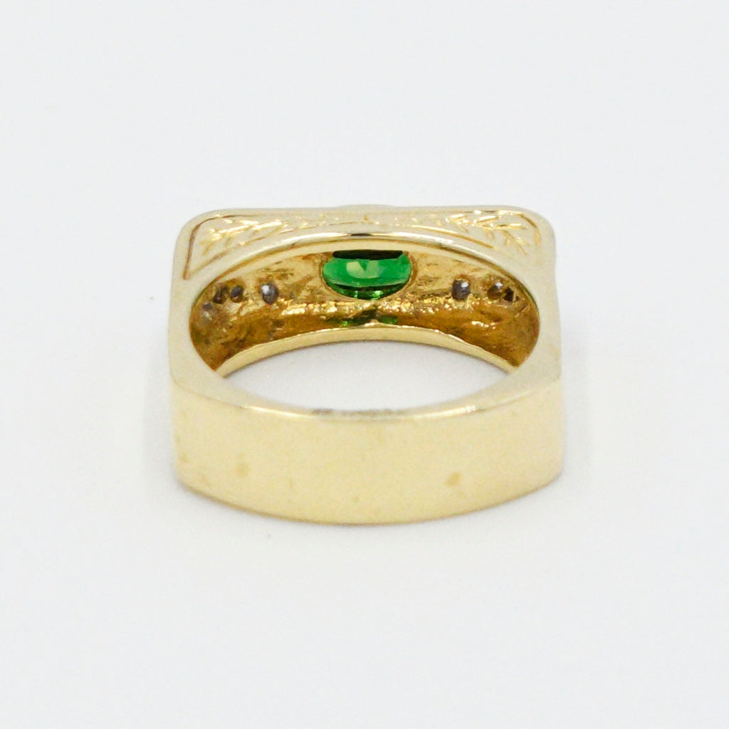 18k Y&W Gold Designr (NH) Michael Vaitutti Emerald And Diamond Ring 8