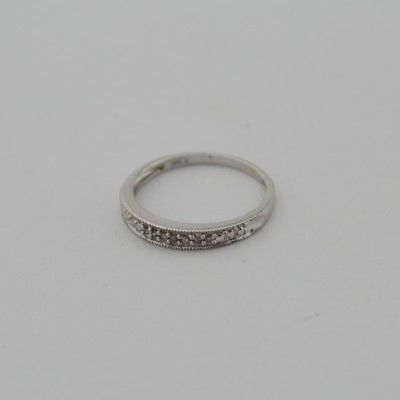 10k White Gold Estate Diamond Band/Ring Size 7.5