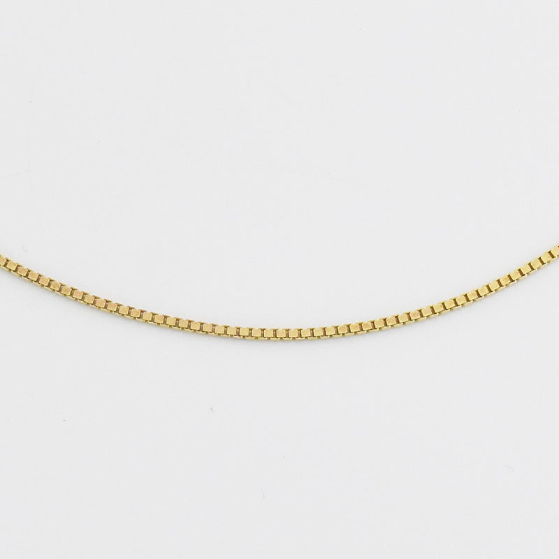 "10k Yellow Gold Estate 18"" Box Link Chain/Necklace"