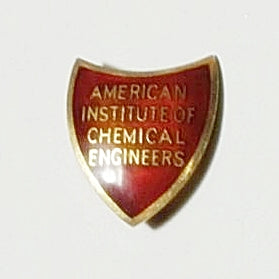 10K Yellow Gold Enameled American Institute Of Chemical Engineers Membership Pin