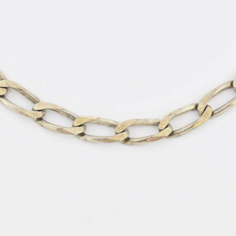 "Sterling Silver 925 Estate 29.75"" Curb Link Chain/Necklace"
