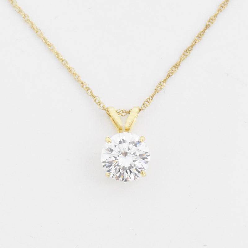 "14k Yellow Gold Estate 18.5"" CZ Diamonique Necklace"