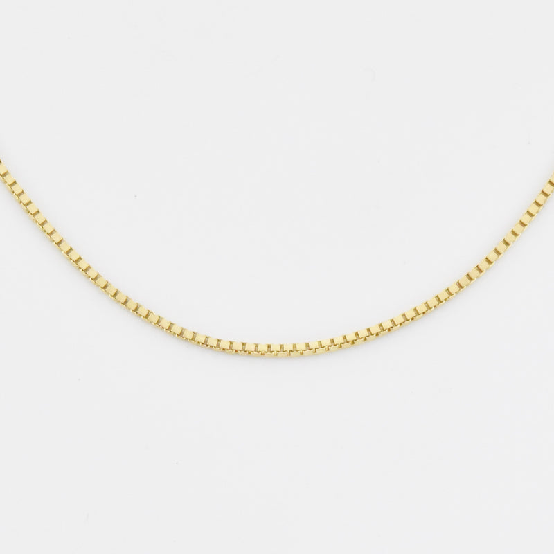 "14k Yellow Gold Estate 20"" Box Link Chain Necklace"