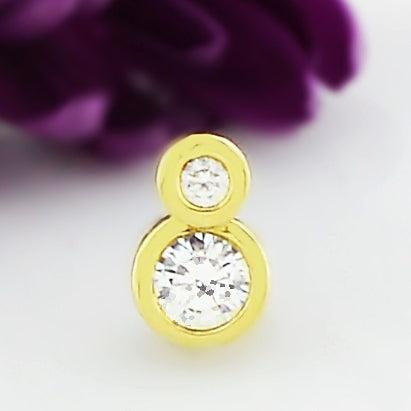 10k Yellow Gold Estate Dangle/Drop CZ Pendant