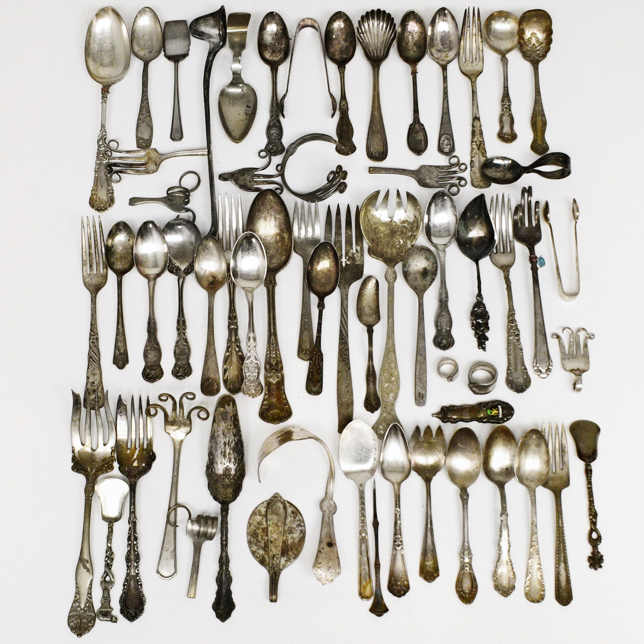 100 Pce Vntg Unique Crafty Silver Plate Arts Crafts Flatware Lot Jewelry Is Me