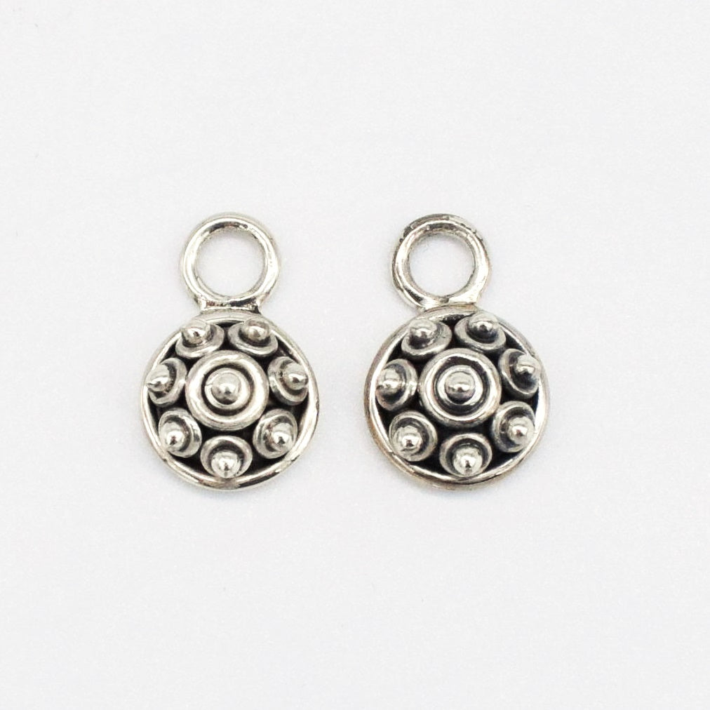 NEW S.S. Artisan Crafted Hoop & Charm Set Earrings
