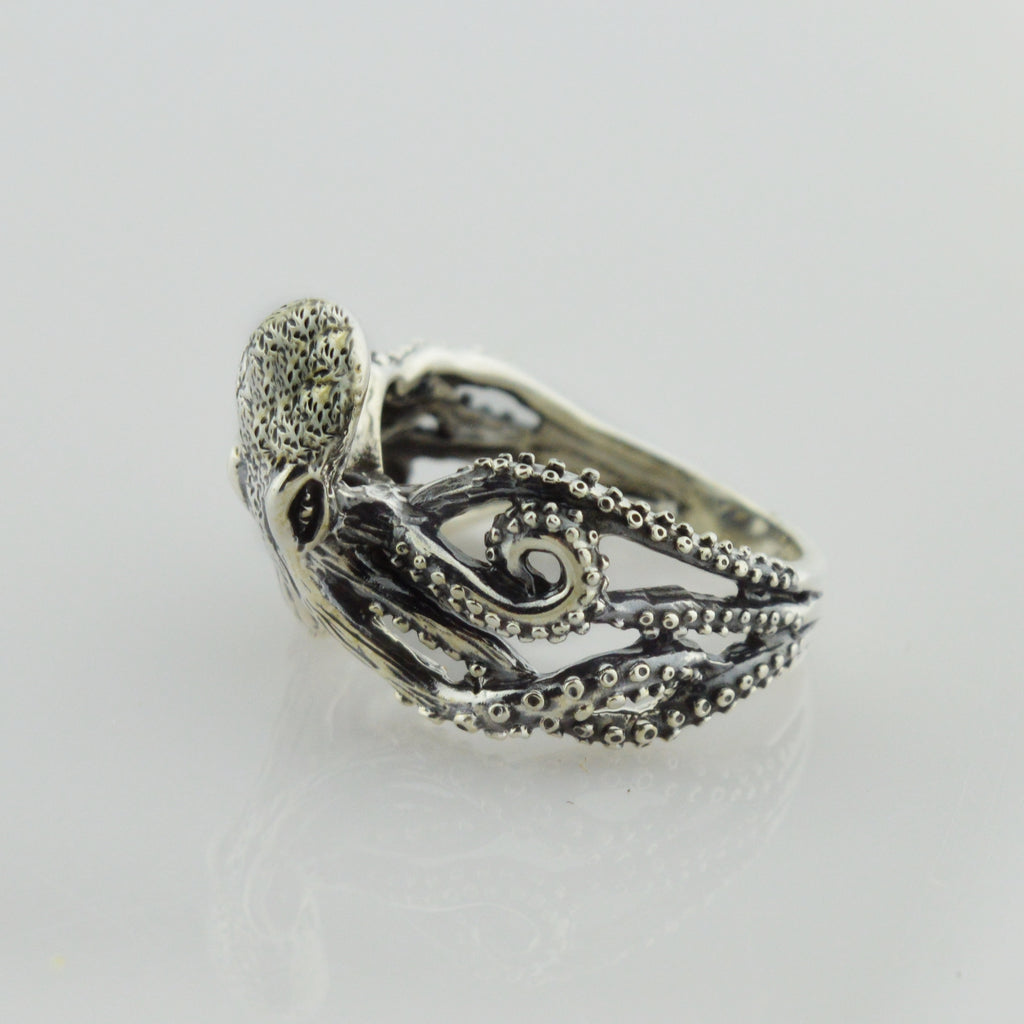 NEW Sterling Silver 925 Sea/Aquatic Creature Octopus Cephalopod Animal Ring