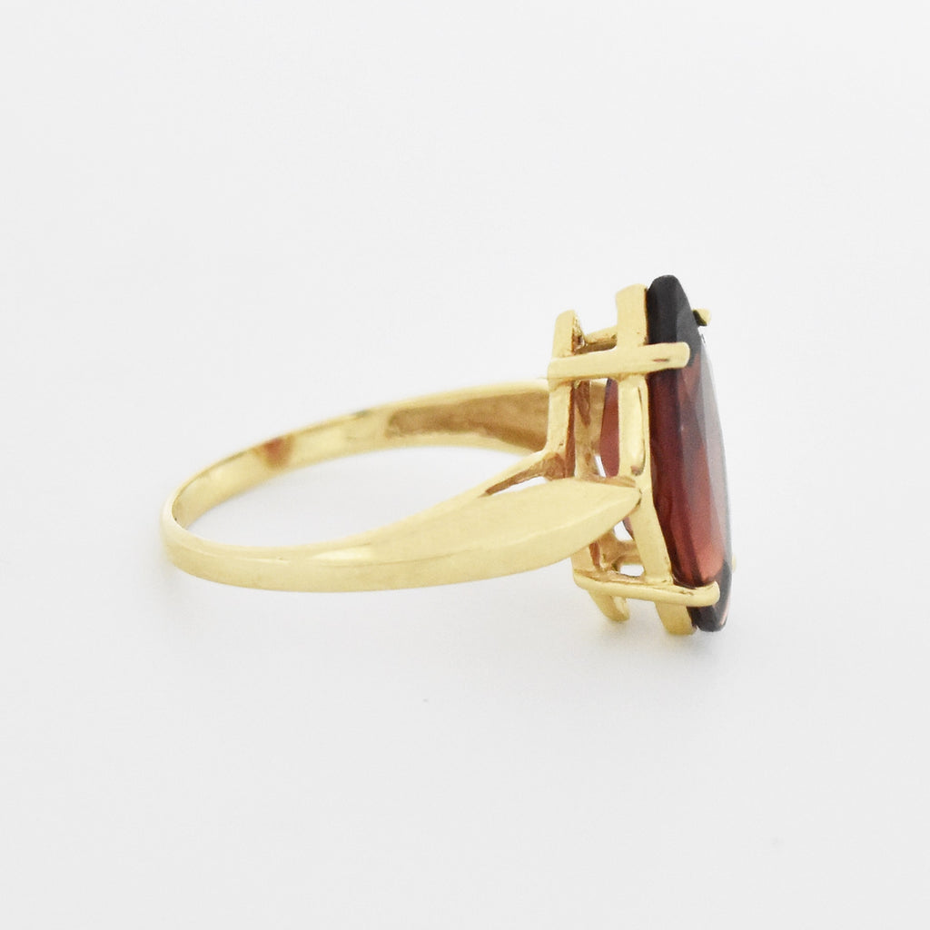 14k Yellow Gold Estate Garnet Ring Size 5