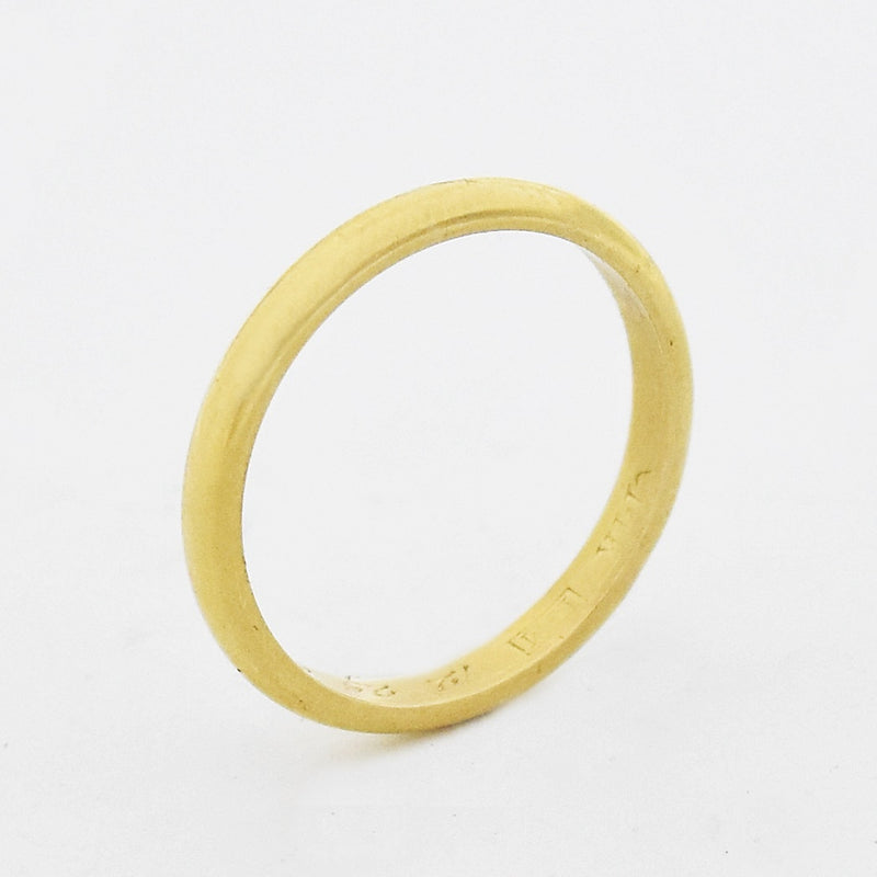 14k Yellow Gold Vintage Wedding Band/Ring Size 6