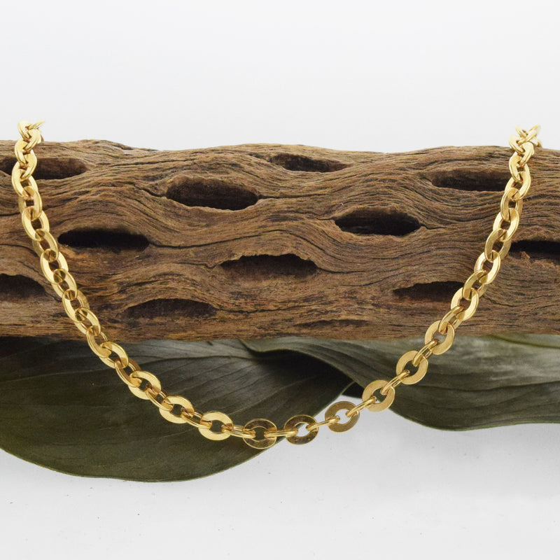 "18k Yellow Gold Estate 24"" Rolo Link Chain/Necklace"