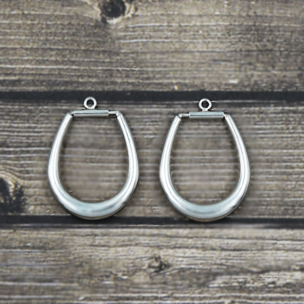 14k White Gold Estate Hoop Enhancers