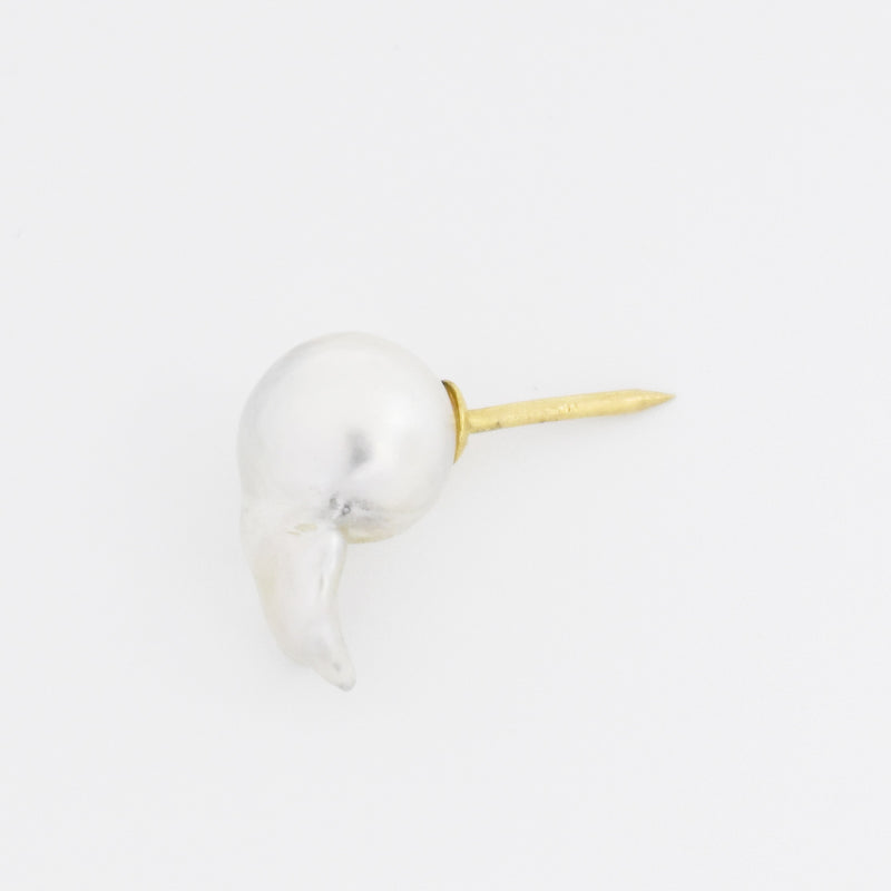 14k Yellow Gold Estate Blister Pearl Tie Tac Pin