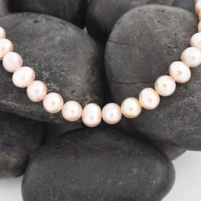 "10k Yellow Gold Clasp 18"" Pink Pearl Necklace"