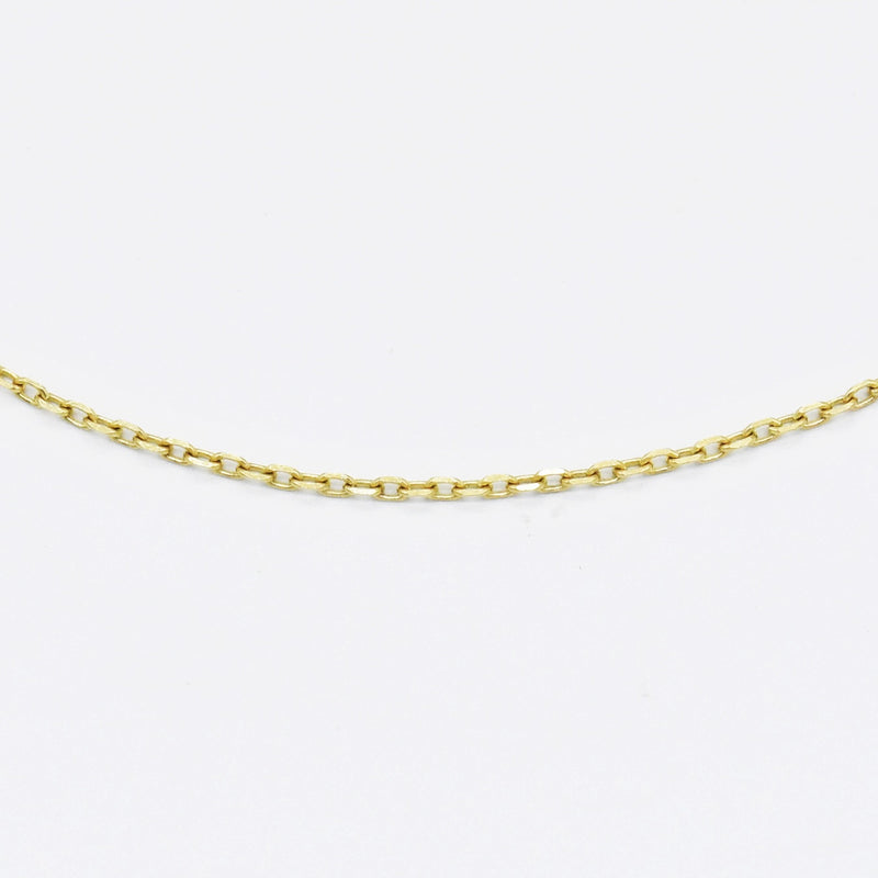 "14k Yellow Gold Estate 18.75"" Rolo Link Chain/Necklace"