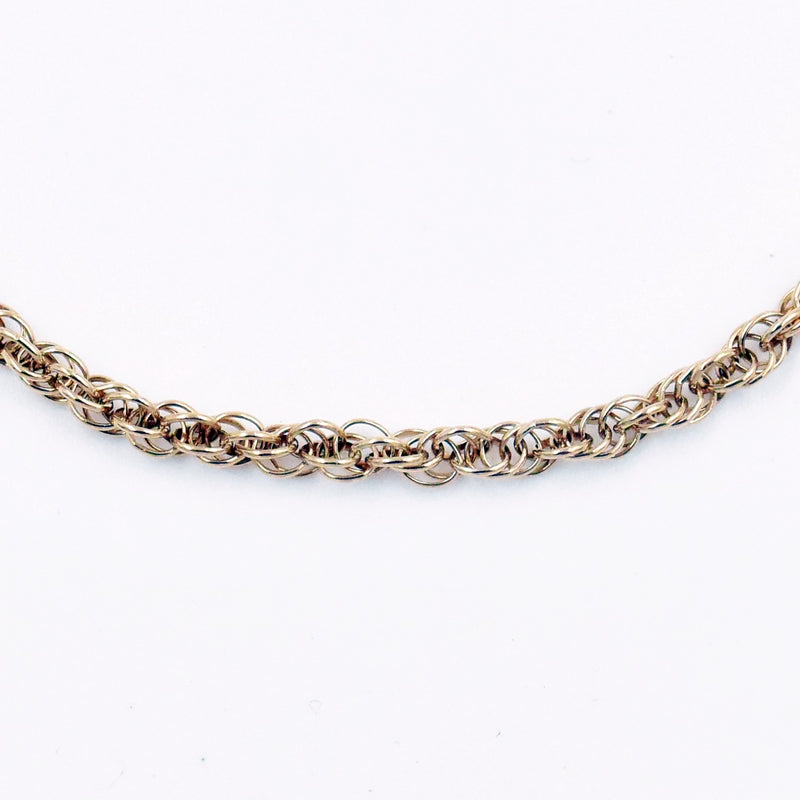 "14k Yellow Gold Estate 25"" Rope Style Chain/Necklace"