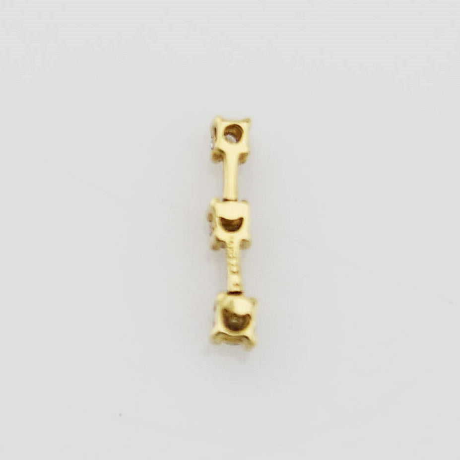 14k Yellow Gold 3/Three Tier Diamond Pendant