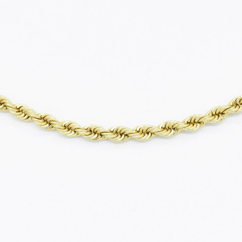 "14k Yellow Gold Estate 24"" Rope Link Chain/Necklace"