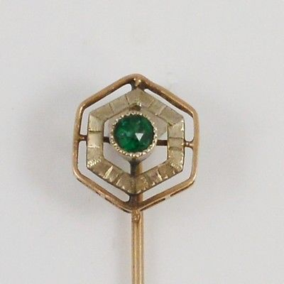 10k Yellow & White Gold Stick Pin
