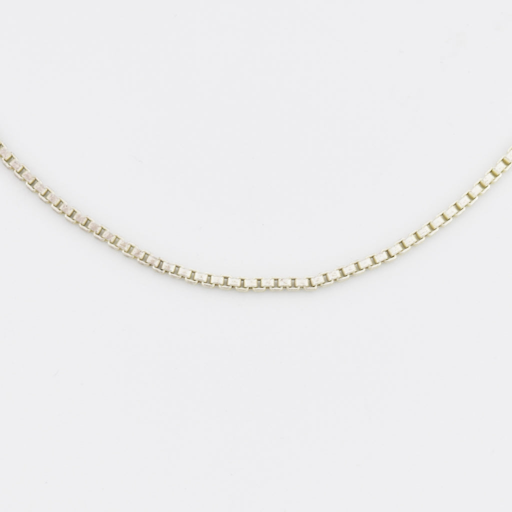 "Sterling Silver 925 Estate 30"" Box Link Chain/Necklace"