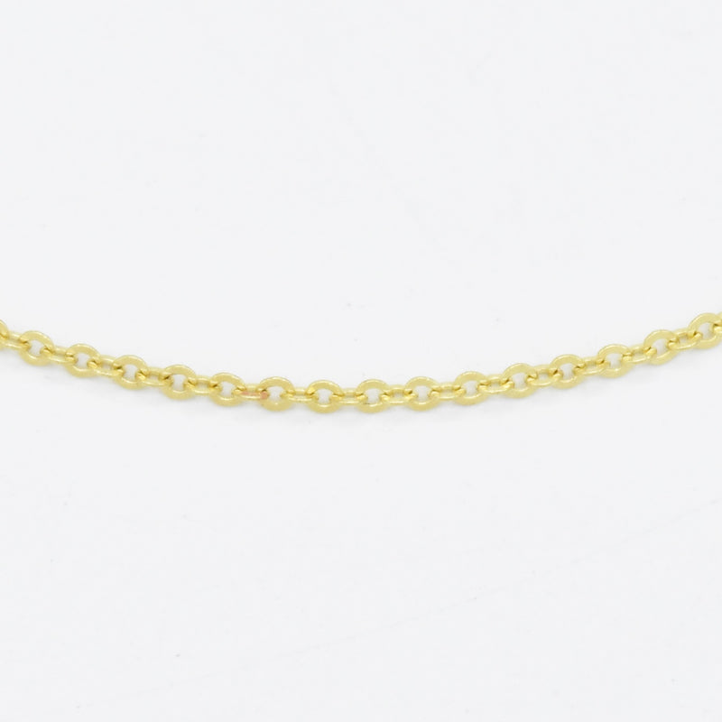 "18k Yellow Gold Estate 16.5"" Rolo Link Necklace/Chain"