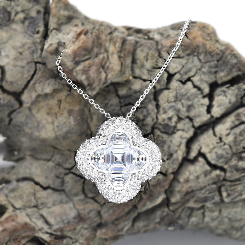 "Sterling Silver 925 Estate ESPOSITO Diamonique 18"" CZ Necklace"