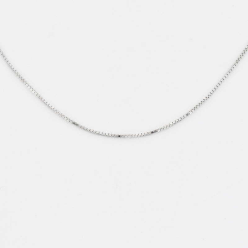 "14k White Gold Estate 18 1/4"" Box Link Chain/Necklace"
