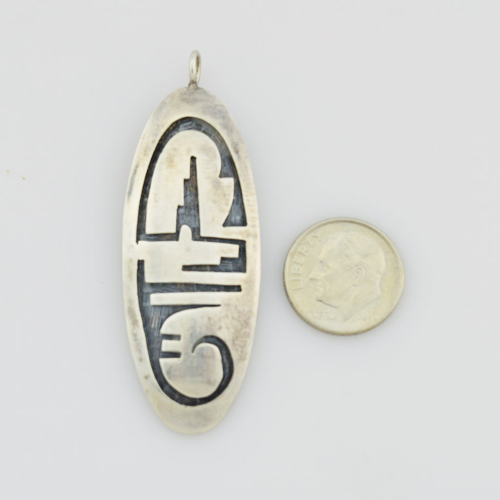 Sterling Silver 925 Vintage Hallmarked GP Native American Pendant
