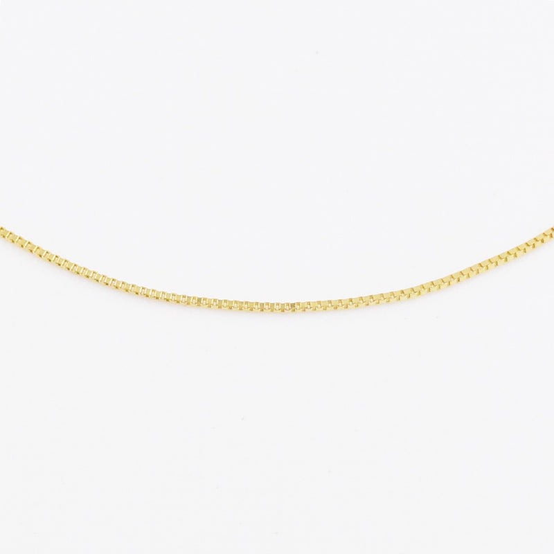 "14k Yellow Gold Estate 24.5"" Box Link Chain/Necklace"