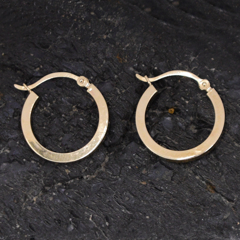 "14k Yellow Gold Estate 3/4"" Circle Hoops/Hoop Earrings"