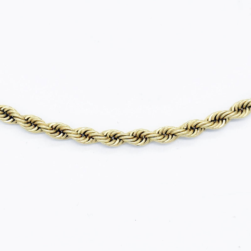 "14k Yellow Gold Estate 20"" Rope Style Chain/Necklace"