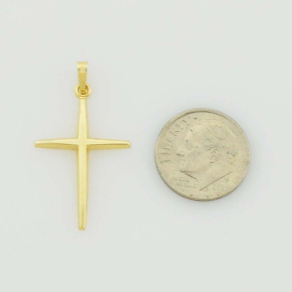 14k Yellow Gold Estate Cross Religious Pendant