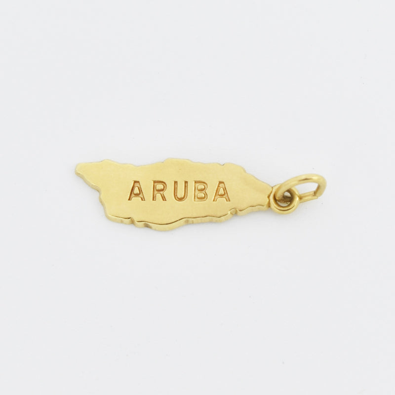14k Yellow Gold Estate Aruba Pendant/Charm
