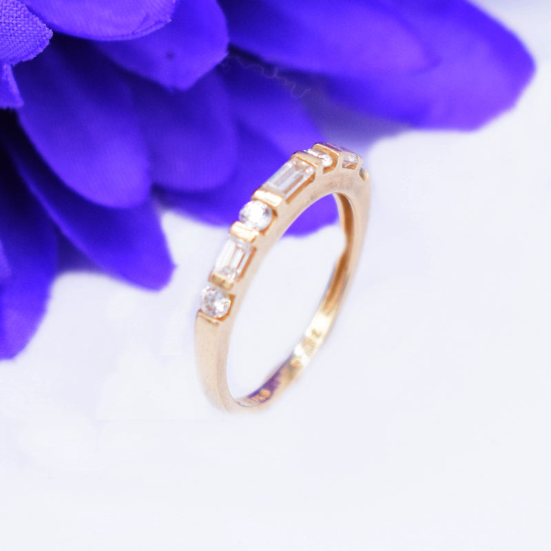 14k YG CZ Wedding Band/Ring Size 6