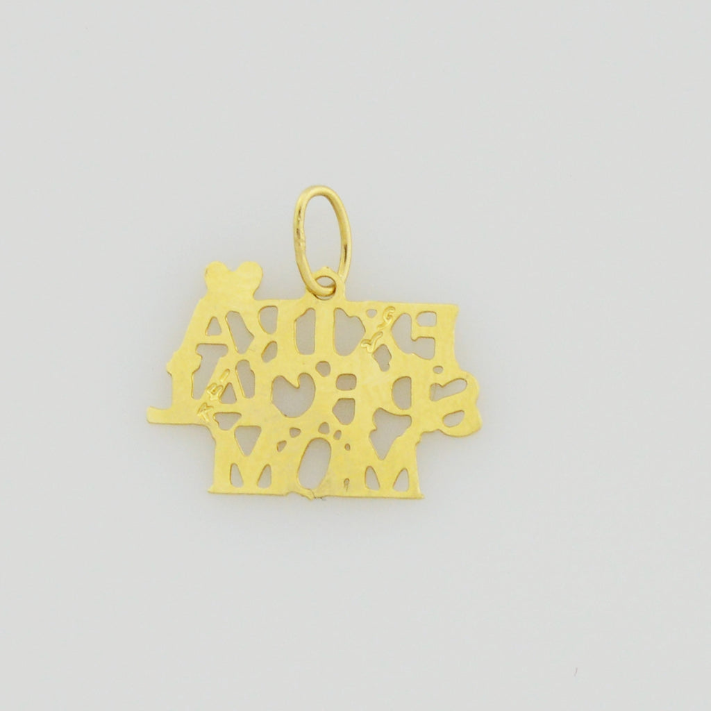 14k Yellow Gold Estate Extra Special Mom/Mother Appreciation Pendant/Charm