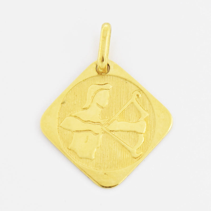 18k Yellow Gold Estate Sagittarius Zodiac Sign Charm/Pendant