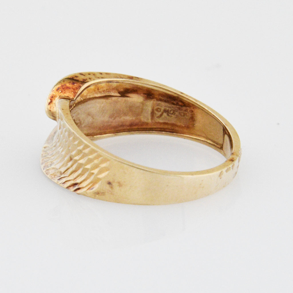 10k Rose Gold Diamond Cut Ring Size 10.25