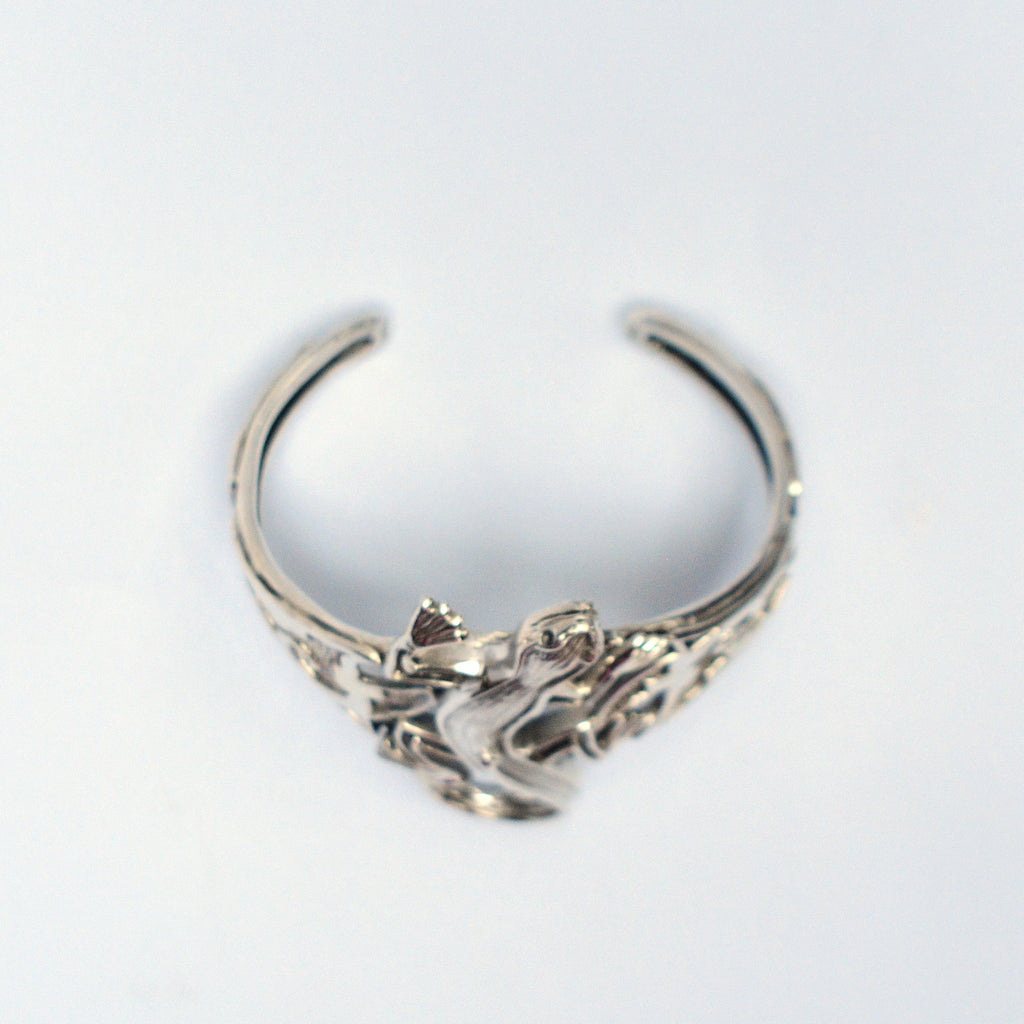 NEW Sterling Silver 925 Wide/Thick Lizard/Gecko Animal Cuff Bracelet