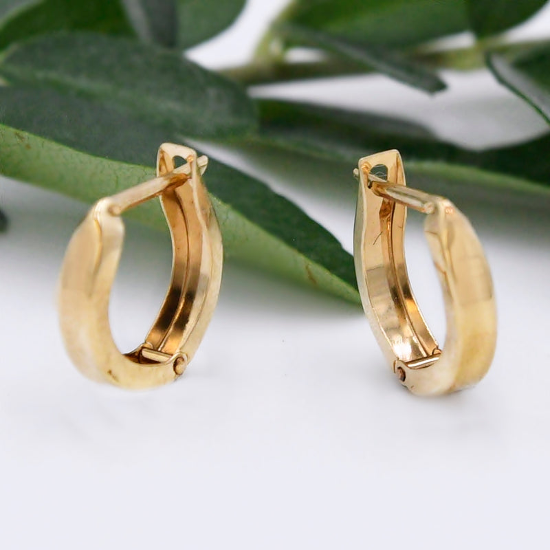 14k Yellow Gold Estate Huggies/Huggie Earring