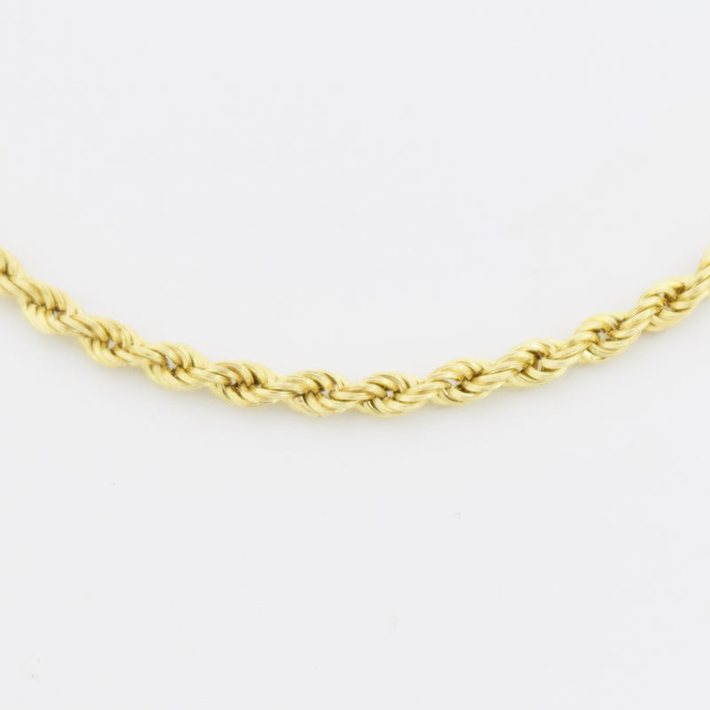 "10k Yellow Gold Estate Rope Link 8"" Bracelet"