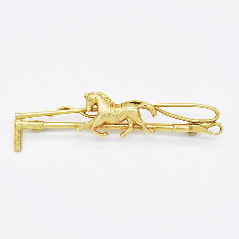 14k Yellow Gold Estate Animal Horse/Equestrian Pin