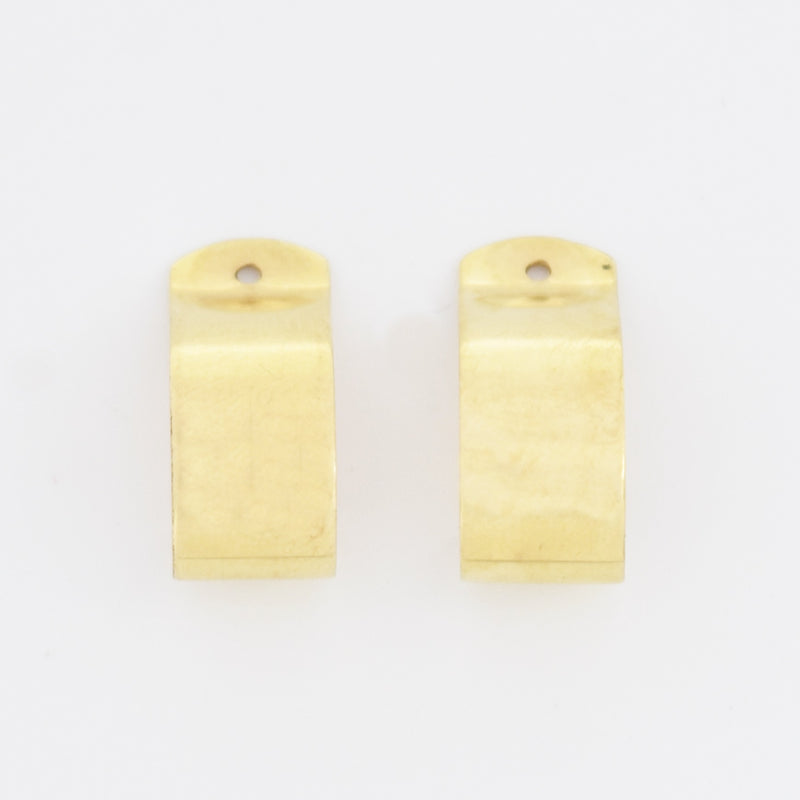 14k Yellow Gold Estate J Hoop Earrings Enhancers