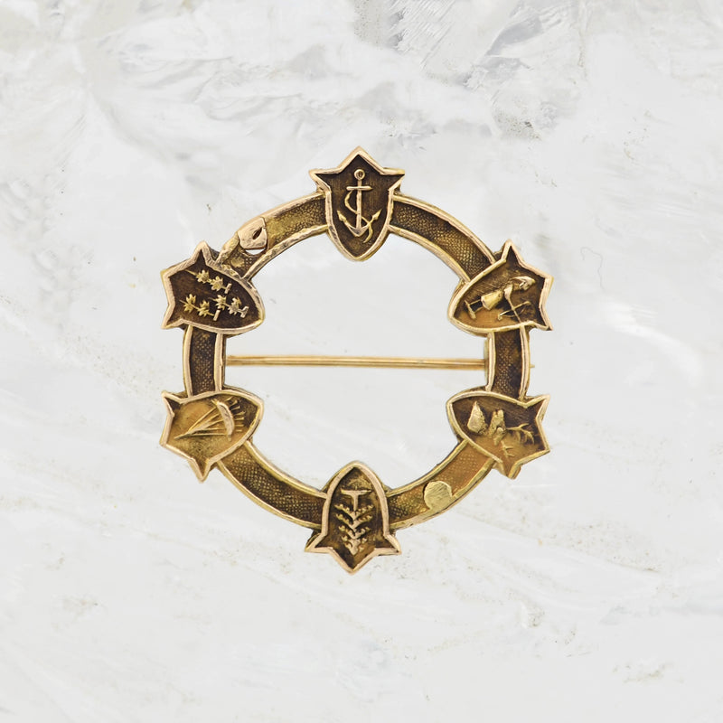 14k Yellow Gold Antique Pin/Brooch