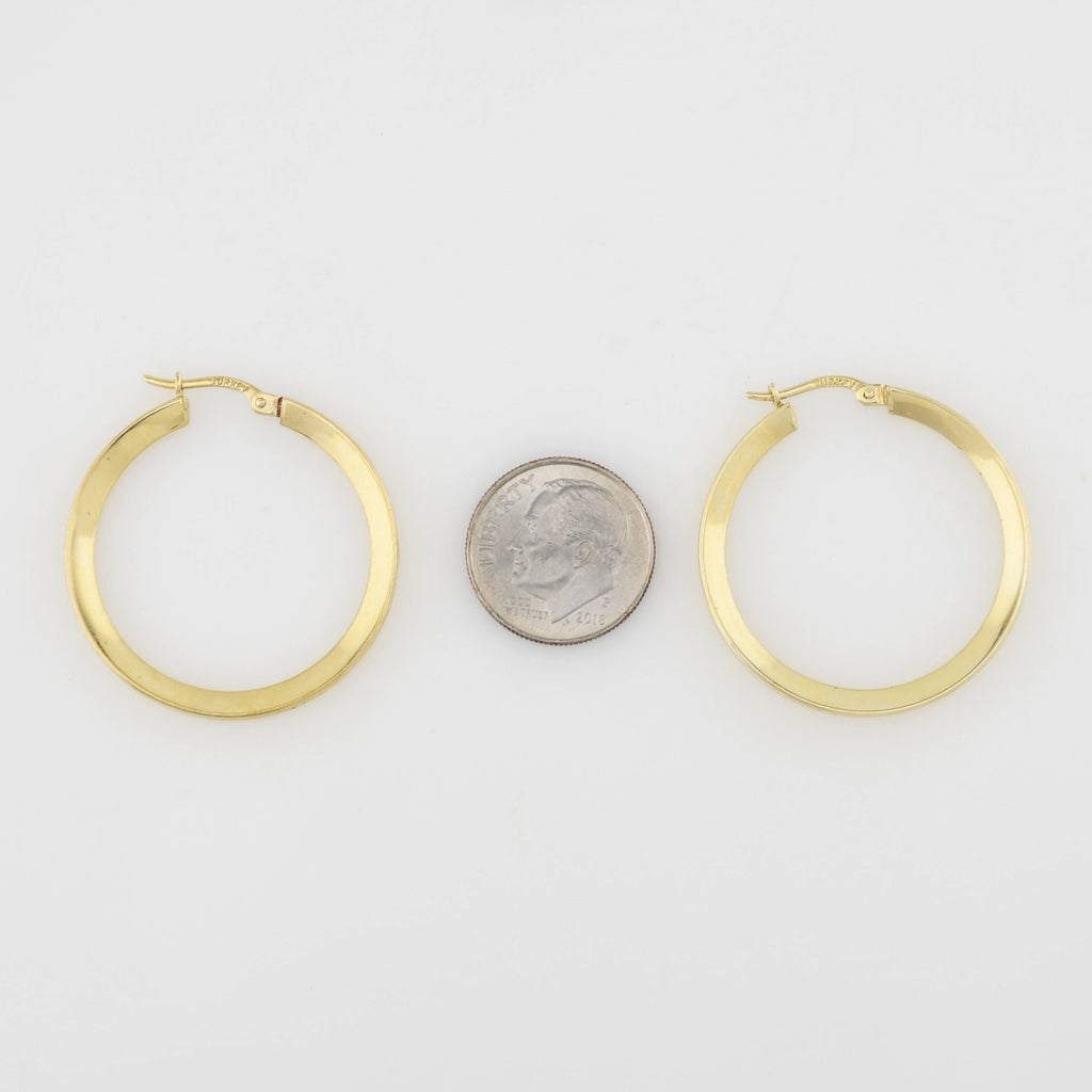 14k Yellow Gold Estate Circle Hoops/Hoop Earrings