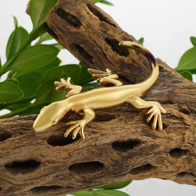 14k Yellow Gold Estate CARLA Lizard Pin