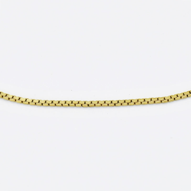 "14k Yellow Gold Estate 24"" Box Link Chain/Necklace"