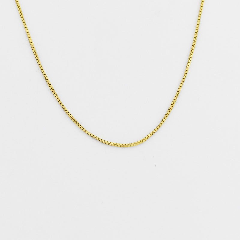 "14k Yellow Gold Estate 20"" Box Link Chain/Necklace"
